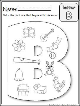 Beginning B Sounds worksheet is an easy and fun way to