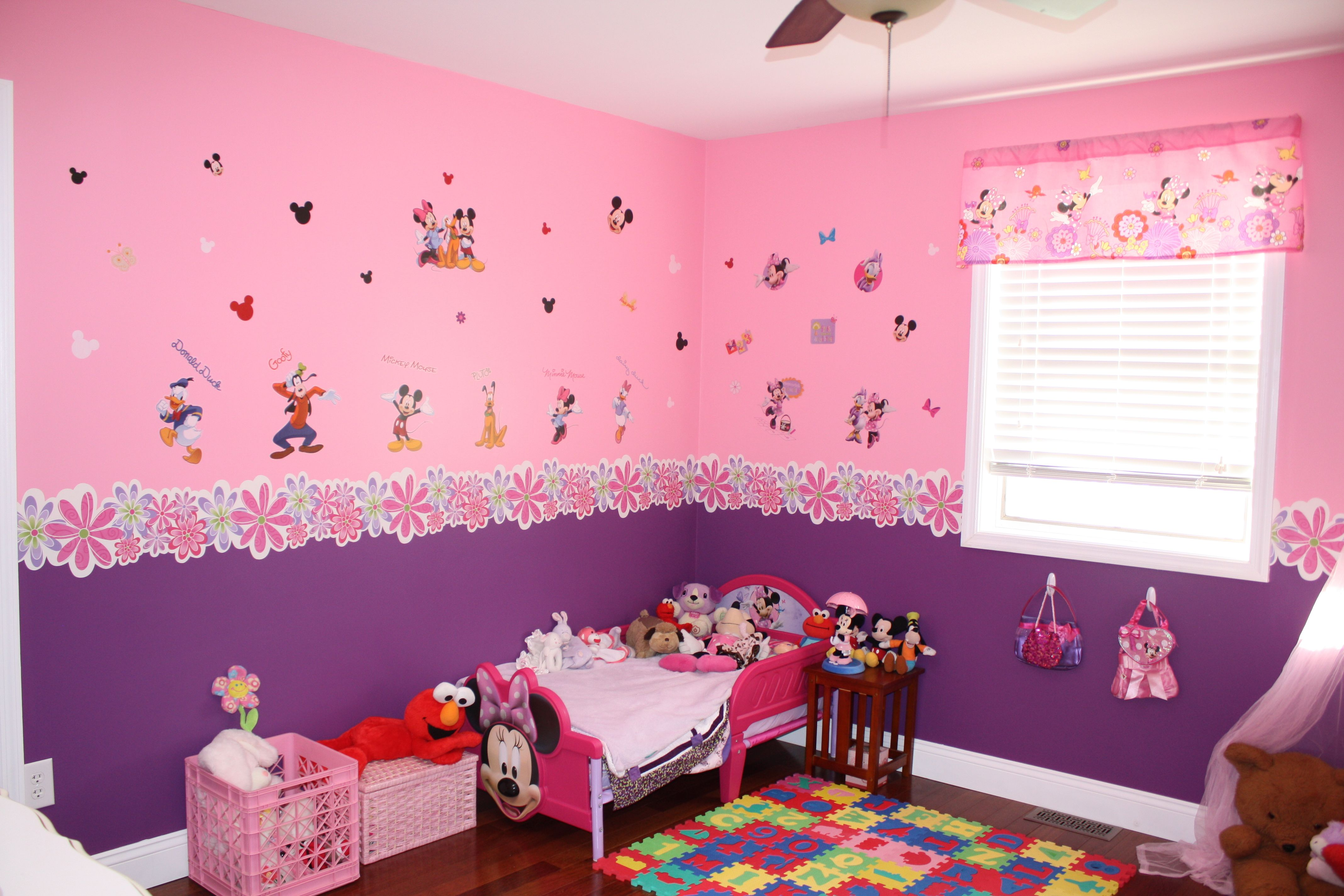 Toddler Minnie Mouse bedroom  Kids Room  Pinterest