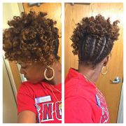 natural hair updo with braiding