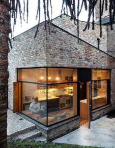 House noji architects have designed also  contemporary brick addition to an rh pinterest