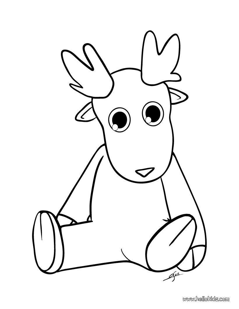 Cute Christmas Reindeer Coloring Page Projects To Try
