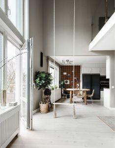 Une balancoire dans le salon planete deco  homes world indoor swinghome saloninterior also rh pinterest