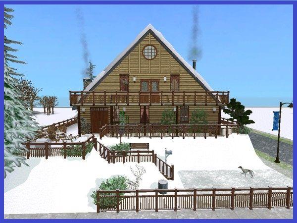 Winter Wonderland Cottage By Ullwera #sims2 #downloads Sims 2