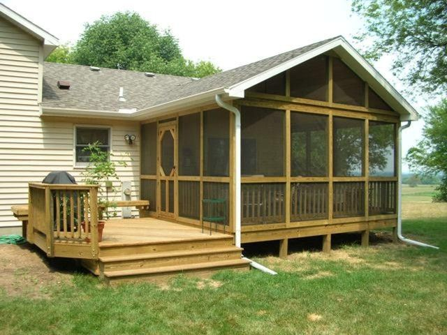 Decks & Screened In Porches Screened In Back Porch Ideas House
