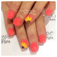 Sunflower nails/ summer nails | Cute Nails Designs ...