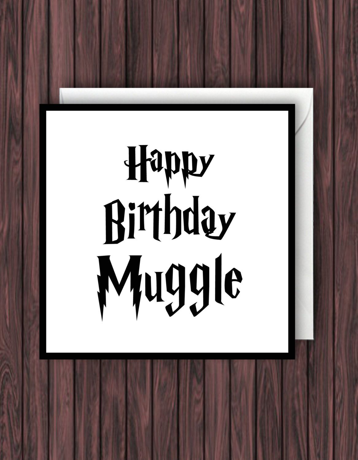 Happy Birthday Muggle Harry Potter Birthday Greeting
