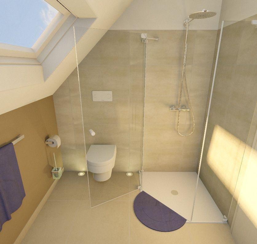 Dachschräge Dusche Im Eck  Bad  Pinterest  Dachschräge