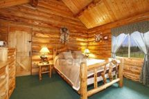 Interior Log Cabin Homes Bedroom Pictures