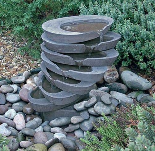 Outdoor Garden Fountains Ideas In The Garden Pinterest