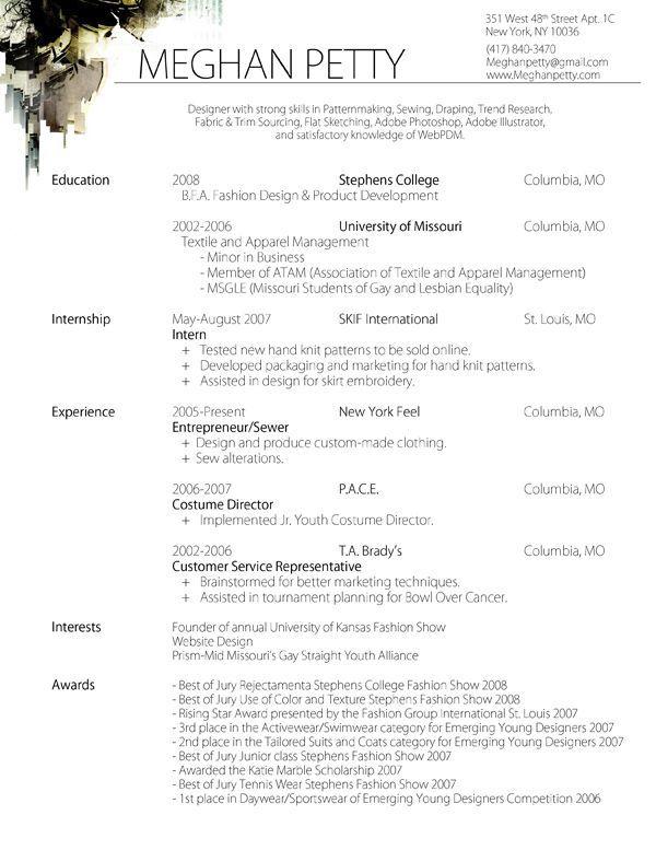 CV FASHION DESIGNER Buscar Con Google CV Pinterest Fashion