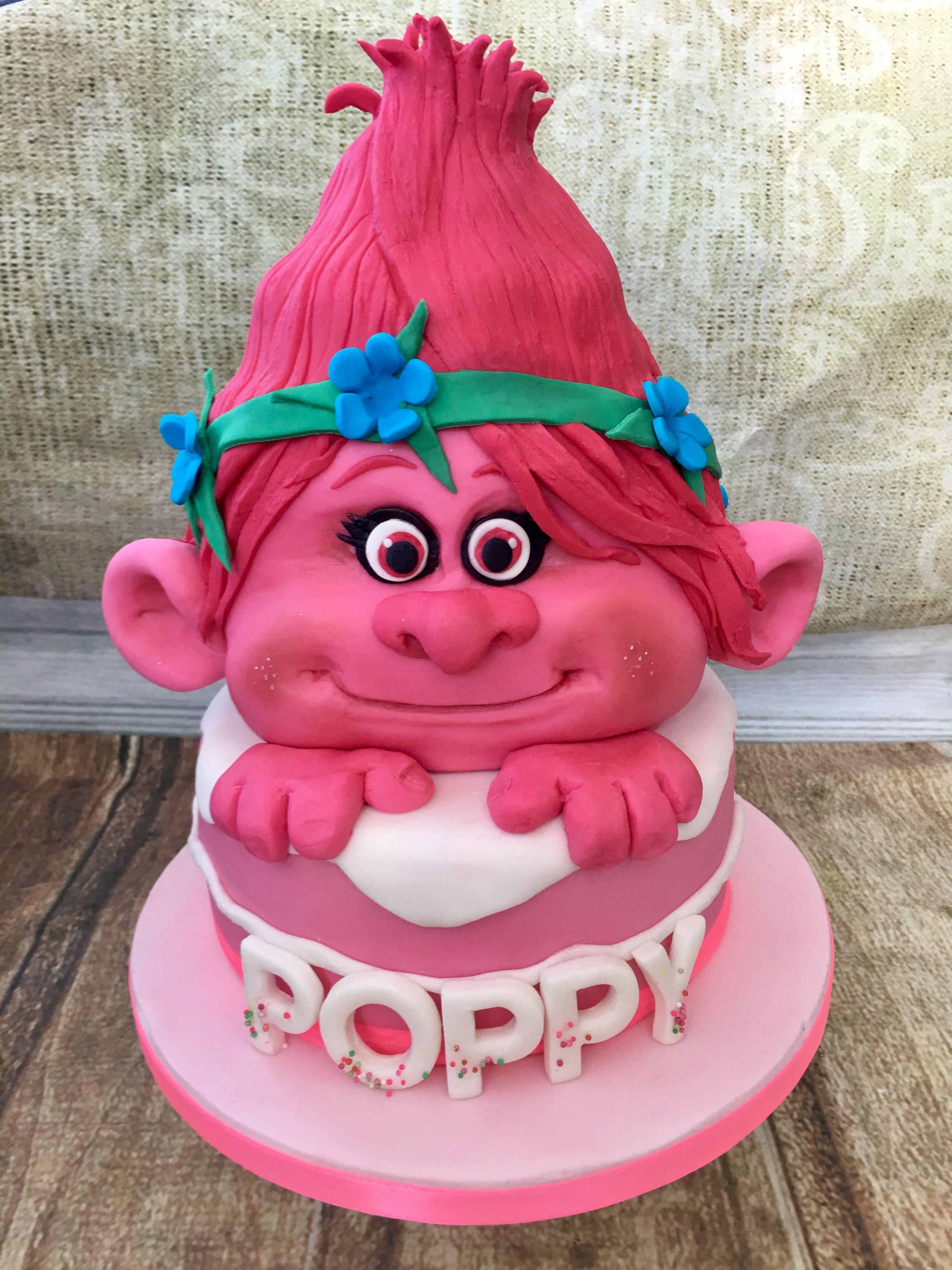 Princess Poppy Troll Birthday Cake By Helen Backhouse