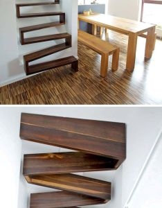 stair design ideas for small spaces  ribbon staircase is great idea space because it   more vertical than traditional also best images about on pinterest stairs and rh
