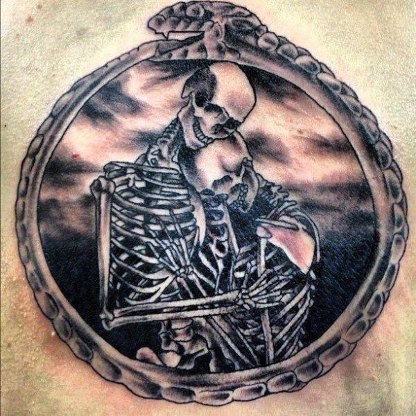 skeleton couple tattoo skeleton-couple