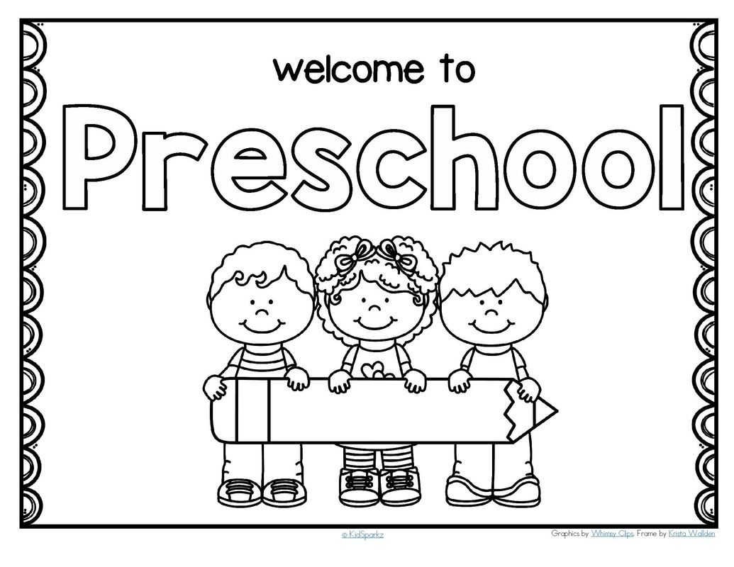 Free Back To School Welcome Poster For Preschool