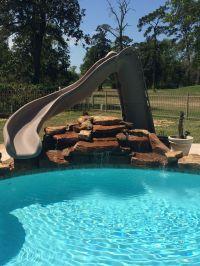 Inground swimming pool/Turbo Twister Slide/Rock Waterfall ...