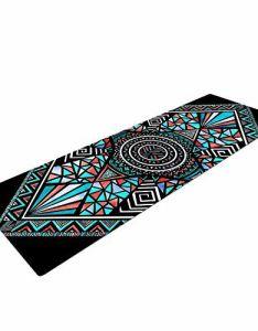 Kess inhouse pom graphic design geo glass yoga exercise mat  also rh pinterest