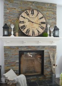 Our Vintage Industrial Fall Mantel | The DIY Mommy | Total ...