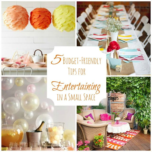 5 Tips For Hosting An Inexpensive Party In A Small Space