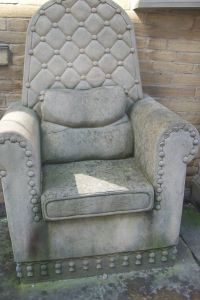 old chair covered in concrete a layer at a time #recycle ...