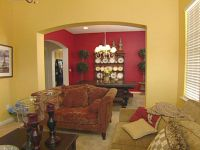 Red Accent Wall - Dining room niche idea - match red to my ...