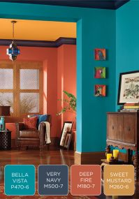 Make a bold statement in your entryway with a colorful ...