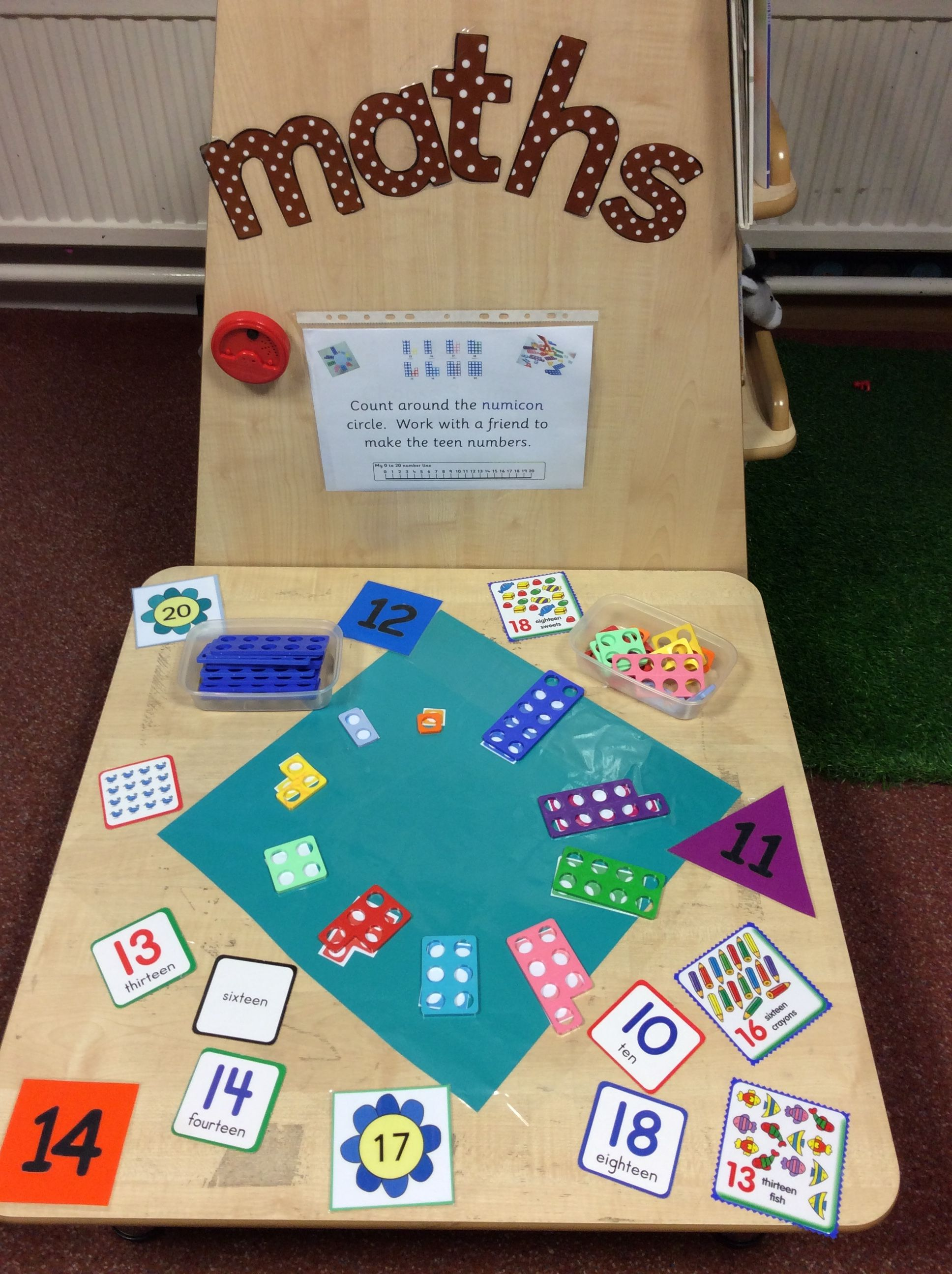 Specific Challenge Eyfs Numicon Maths Teen Numbers Place