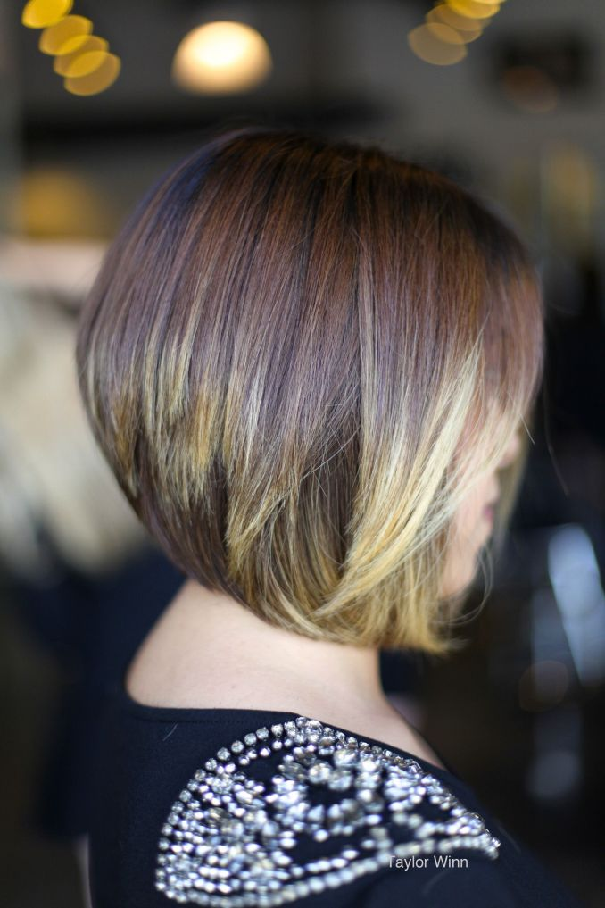 elegant disconnected bob hairstyle