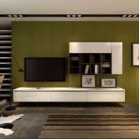 Floating wall mounted entertainment unit and wall storage ...