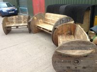 Pallet & Cable Drum Benches  Pallet Ideas | Bench ...