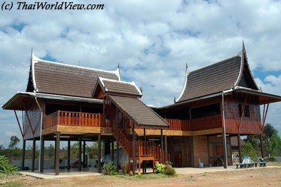 Thai Traditional Wooden House Houses Wooden Cabin Cottage