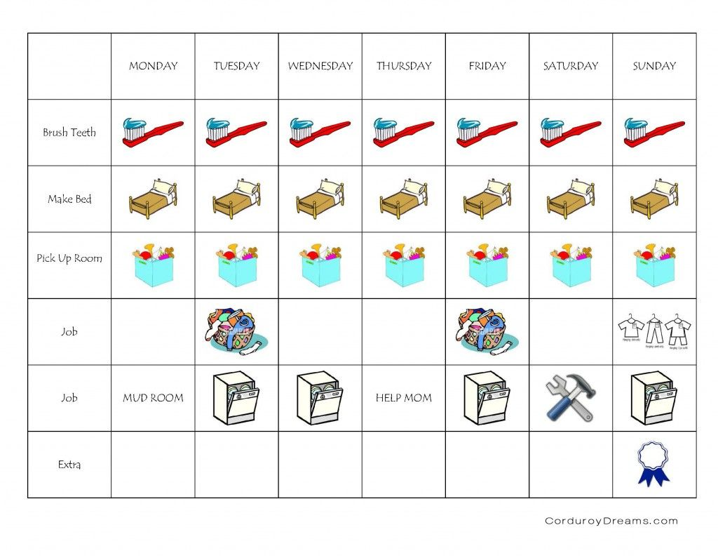 A House Of Order Printable Chore Charts