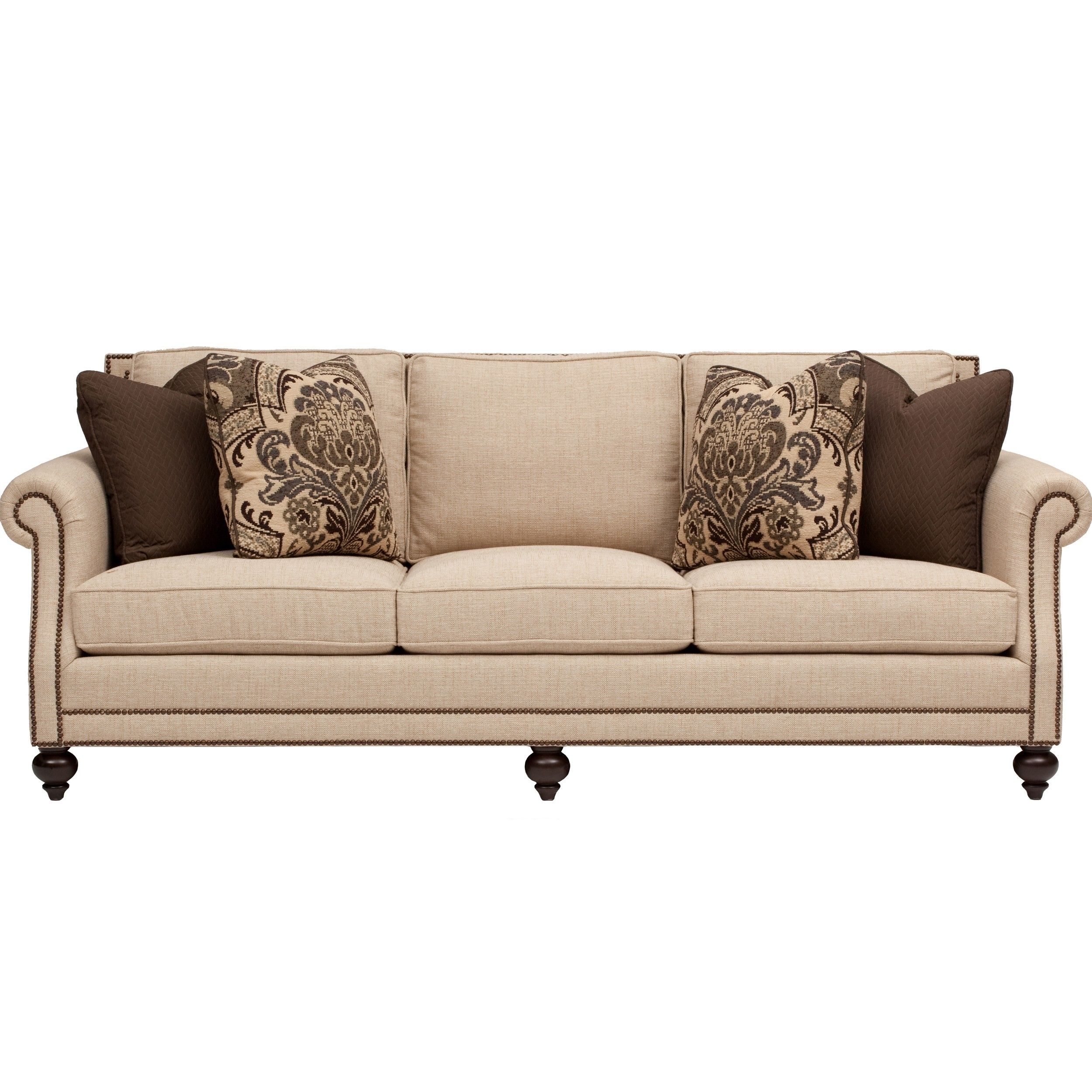 bernhardt cantor leather sofa price mint green bed nailhead living room style best site