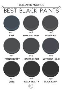 The Best Black Paint Colours For Any Room | Benjamin moore ...