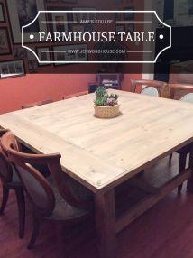 Build Diy Square Farmhouse Table Plans House