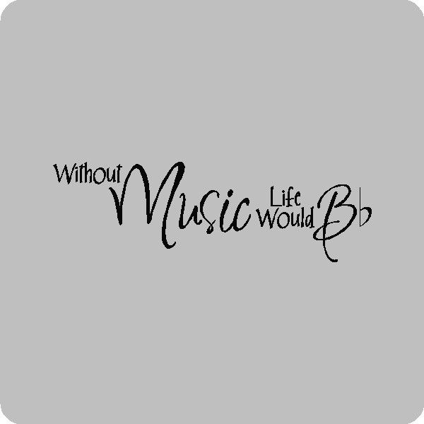 Without Music Life Would B....Music Wall Quotes Words