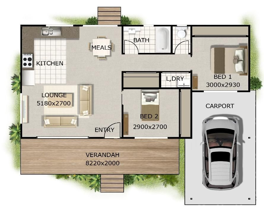 2 Bedroom 2 Bath Cottage Plans Want This Plan Includes Concept E