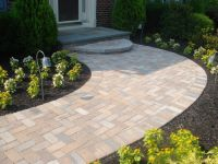 Front Walkway with Steps Ideas | Landscape with front ...