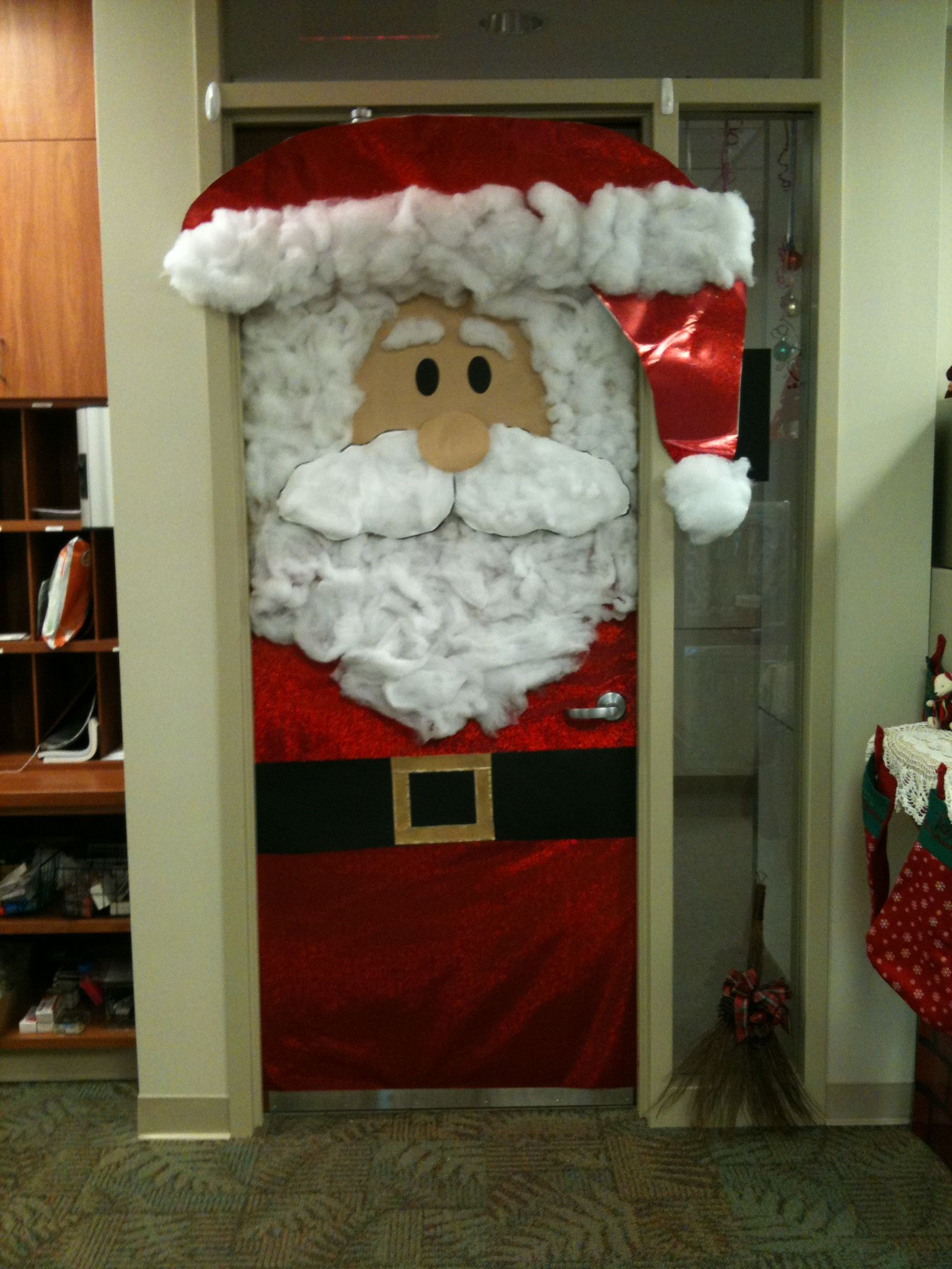 Holiday door decor! This was at work.