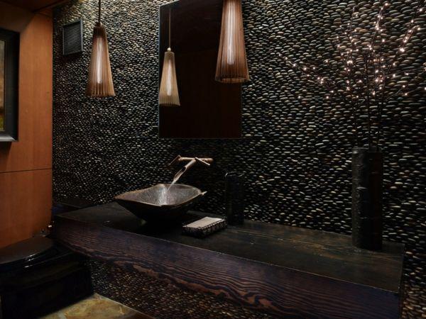 Luxus Badezimmer Deko dunkel damentoilette rustikal einrichtung  Bathroom  Pinterest  Luxus