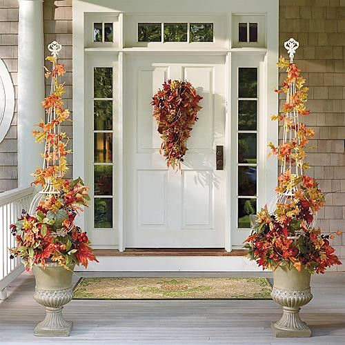 Falling Leaves Topiary in Urn Arrangement