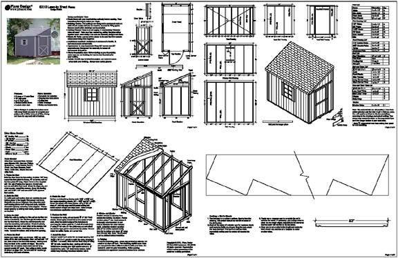 Build Plans Lean To Storage Building Plans Wooden wood