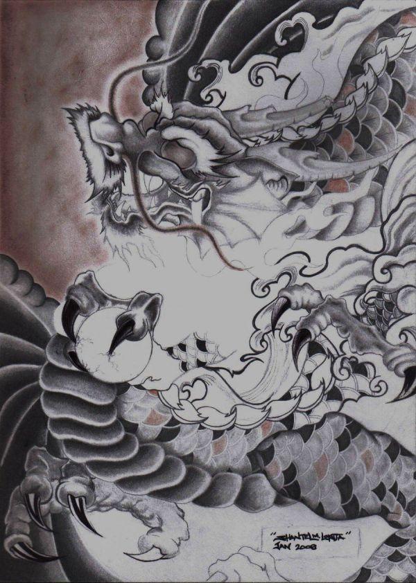 Japanese Art Dragon Smekeal00