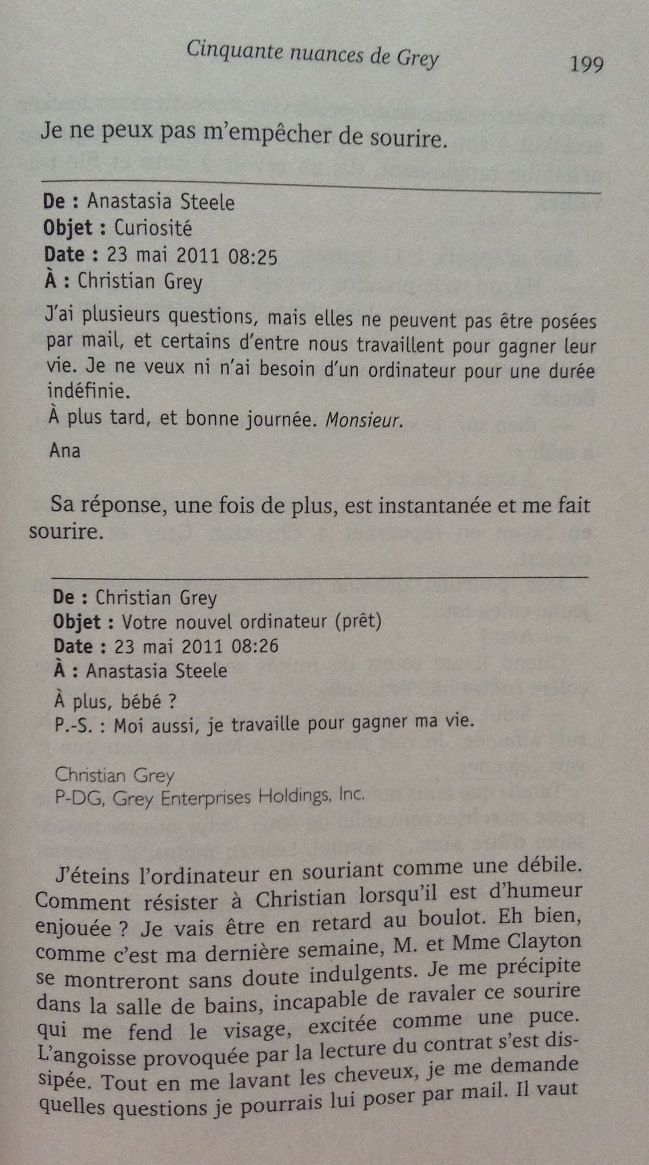 Fifty Shades Of Grey Resume Athéna 39s Hobbies Lecture Quotcinquante Nuances De Grey Quot 1