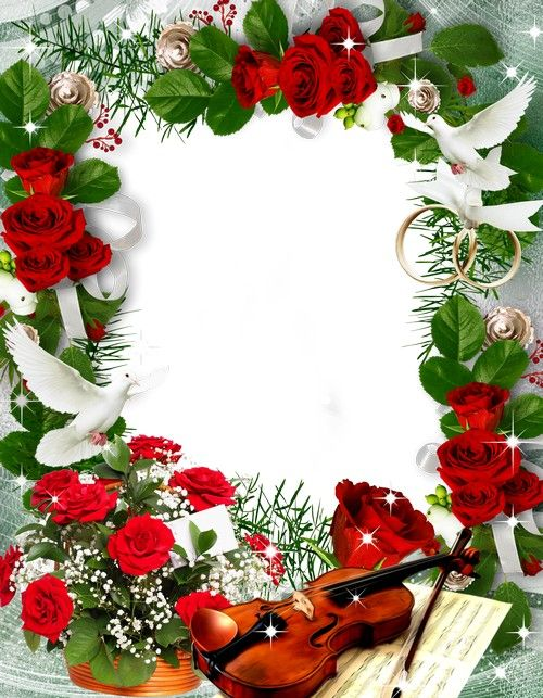wedding and romantic frame
