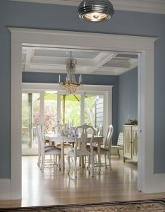 Baseboard trim doorway crown molding the color of my dining room and kitchen also pin by bambi walzer on bedroom pinterest moldings colors rh