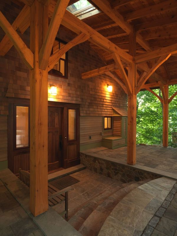 Tamarack Post And Beam Carport Entry Products Love