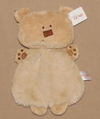 Baby GUND Tan Simply Modern Bala Bear Security Blanket ...