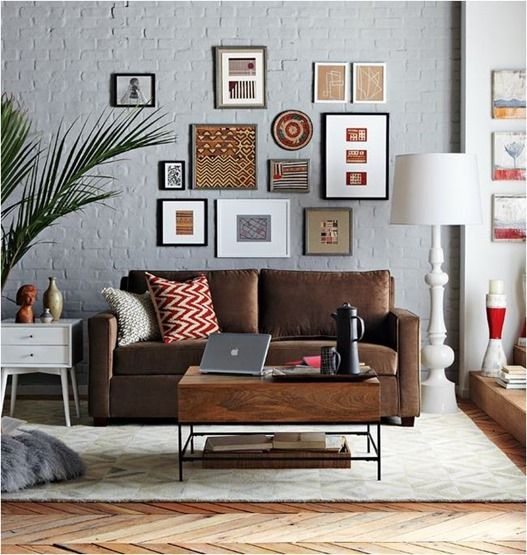 how to decorate with a dark brown leather sofa amazon sleepers this image is another example of around ...