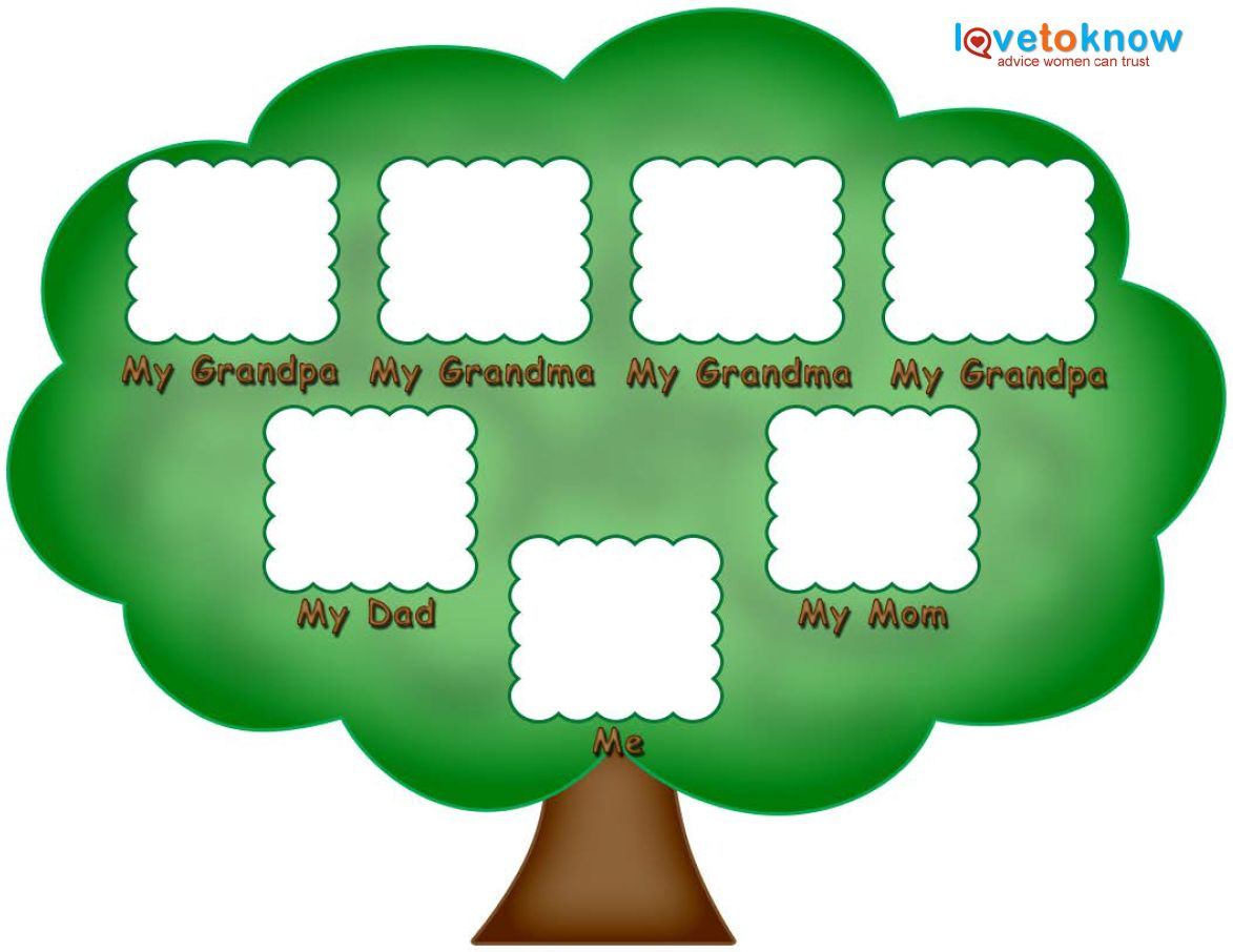 Preschool Family Tree Family Tree