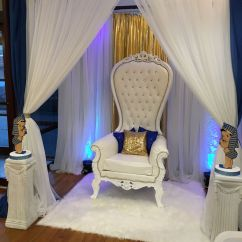 Baby Shower Chair Decorations Costco Cushions Canopy For Mom To Be Area Throne With White Rug